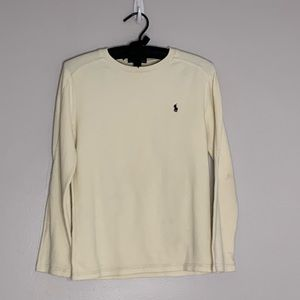 Polo Ralph Lauren Ivory Unisex Thermal shirt Sz L
